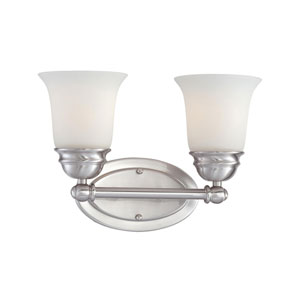 Bella Brushed Nickel Two-Light Wall Sconce