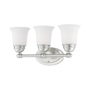 Bella Brushed Nickel Three-Light Wall Sconce