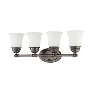 Bella Oiled Bronze Four-Light Wall Sconce
