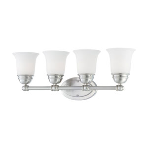 Bella Brushed Nickel Four-Light Wall Sconce