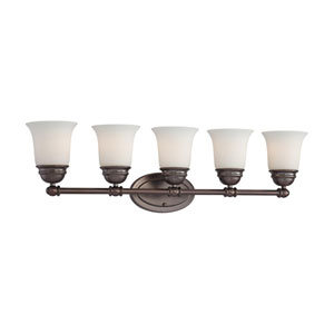 Bella Oiled Bronze Five-Light Wall Sconce