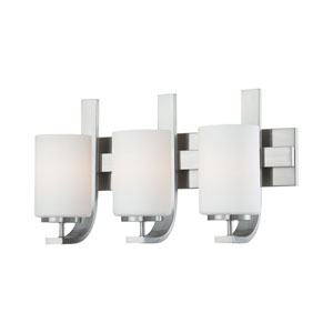 Pendenza Brushed Nickel Three-Light Wall Sconce