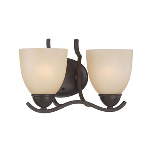 Triton Sable Bronze Two-Light Wall Sconce