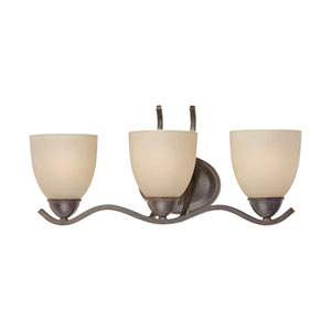 Triton Sable Bronze Three-Light Wall Sconce