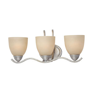 Triton Moonlight Silver Three-Light Wall Sconce