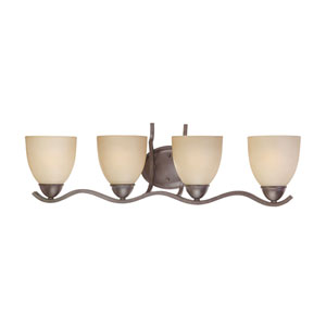 Triton Sable Bronze Four-Light Wall Sconce