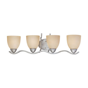 Triton Moonlight Silver Four-Light Wall Sconce