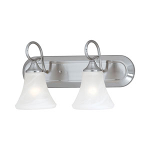 Elipse Brushed Nickel Two-Light Wall Sconce