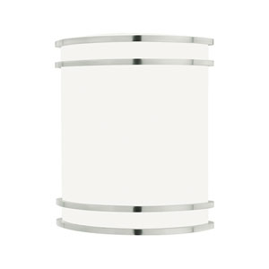 Parallel Brushed Nickel Nine-Inch Two-Light Wall Sconce