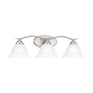 Prestige Brushed Nickel Three-Light Wall Sconce
