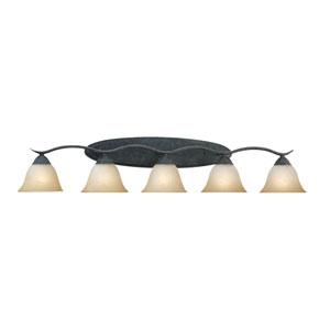 Prestige Sable Bronze Five-Light Wall Sconce
