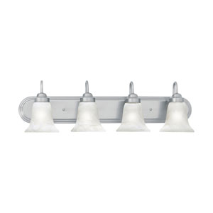 Homestead Brushed Nickel Four-Light Wall Sconce