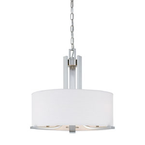 Pendenza Brushed Nickel Three-Light Pendant