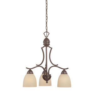 Triton Sable Bronze Three-Light Chandelier