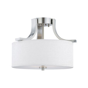 Pendenza Brushed Nickel Two-Light Semi Flush Mount