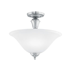 Whitmore Brushed Nickel Two-Light Semi Flush Mount