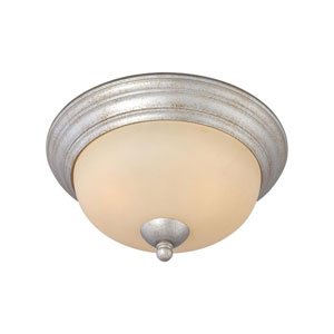 Triton Moonlight Silver Two-Light Flush Mount