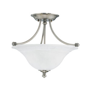 Harmony Satin Pewter Two-Light Semi Flush Mount