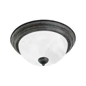 Essentials Sable Bronze Two-Light Flush Mount