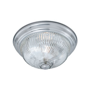 Essentials Brushed Nickel 13-Inch Two-Light Flush Mount