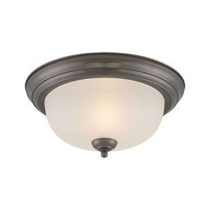 Essentials Oiled Bronze Flush Mount