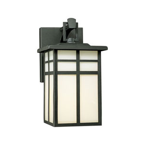 Mission Black 11-Inch Outdoor Wall Sconce