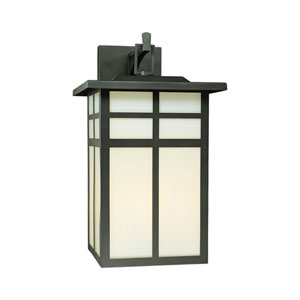Mission Black Three-Light Outdoor Wall Sconce