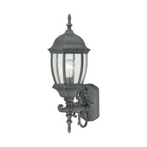 Covington Black 22-Inch Outdoor Wall Sconce