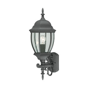 Covington Black 24-Inch Outdoor Wall Sconce