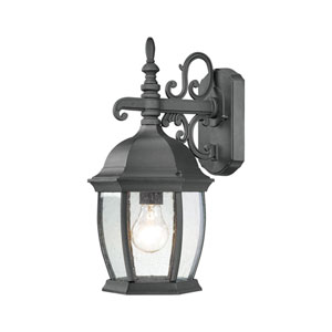 Covington Black 16-Inch Outdoor Wall Sconce