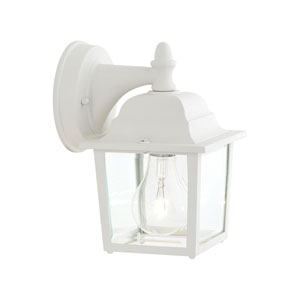 Hawthorne Matte White Nine-Inch Outdoor Wall Sconce
