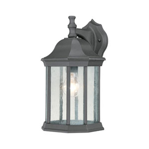 Hawthorne Black 14-Inch Outdoor Wall Sconce