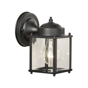 Essentials Black Five-Inch Outdoor Wall Sconce