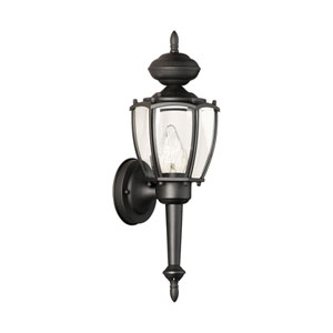 Park Avenue Black 18-Inch Outdoor Wall Sconce
