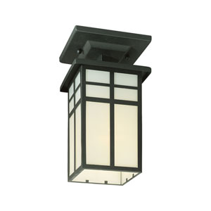 Mission Black Outdoor Semi Flush Mount