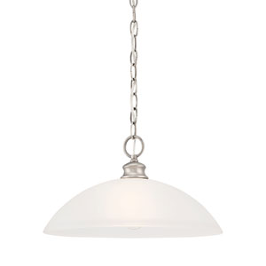 Haven Satin Pewter 14-Inch Pendant