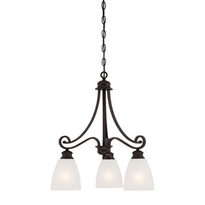Haven Espresso Three-Light Chandelier