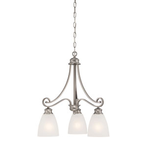 Haven Satin Pewter Three-Light Chandelier