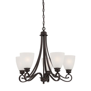 Haven Espresso Five-Light Chandelier