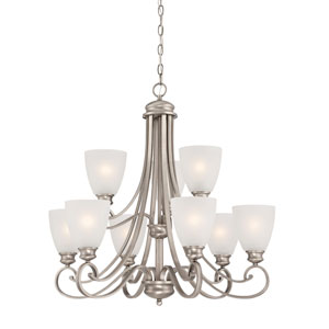 Haven Satin Pewter Nine-Light Chandelier