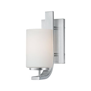 Pendenza Brushed Nickel Wall Sconce