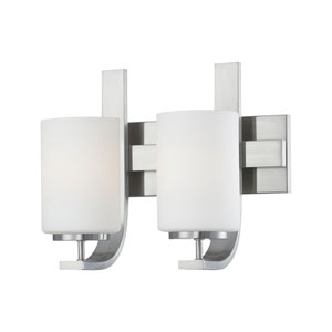 Pendenza Brushed Nickel Two-Light Wall Sconce