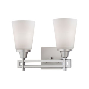 Wright Matte Nickel Two-Light Wall Sconce