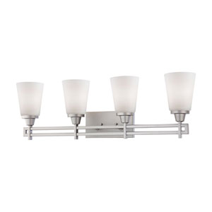 Wright Matte Nickel Four-Light Wall Sconce