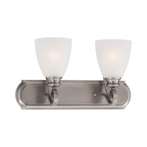 Haven Satin Pewter Two-Light Wall Sconce