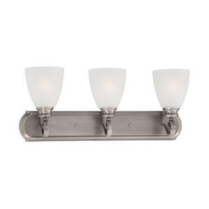Haven Satin Pewter Three-Light Wall Sconce