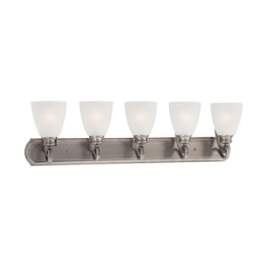 Haven Satin Pewter Five-Light Wall Sconce