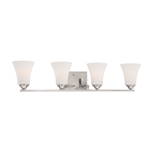 Treme Brushed Nickel Four-Light Wall Sconce