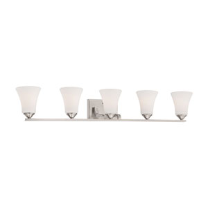 Treme Brushed Nickel Five-Light Wall Sconce