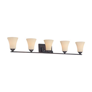 Treme Espresso Five-Light Wall Sconce